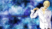 Cool Sanji One Piece Blue Background HD Wallpaper Picture Desktop
