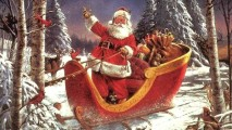 Awesome Santa Claus Comming To Town HD Wallpaper Image Picture