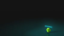 Android Logo And Font Black Background HD Wallpaper Image