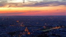 Beautiful Sunset Paris Wallpaper HD Widescreen Picture For PC Desktop