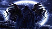 Dark Angel And Blue Moon HD Wallpaper Picture For Your PC Laptop