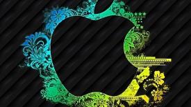 Abstract iPhone 5 Logo Background HD Wallpaper Image