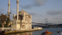 Istanbul Building And The Bridge HD Wallpaper Widescreen Desktop Photo