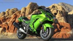 Kawasaki ZX 14R Sport Rider HD Wallpaper Widescreen For PC Desktop