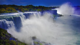 Awesome Niagara Falls And Blue Sky Picture High Definition Wallpaper