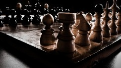 Chess Board Or Table HD Wallpaper Widescreen Photo Picture