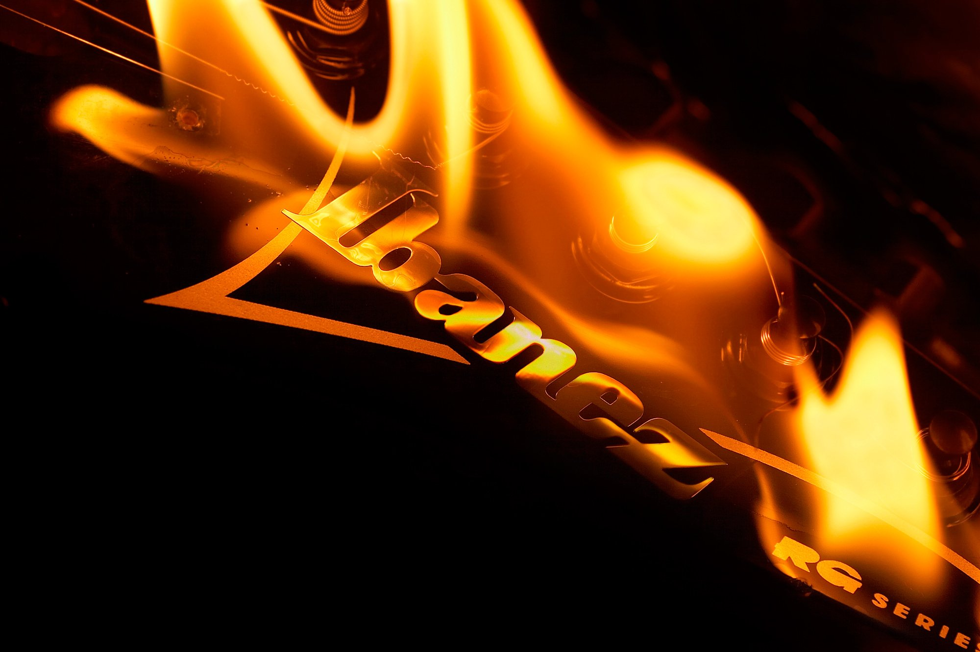 Amazing Music Wallpapers: Amazing Ibanez Fire Music HD Wallpaper Picture Free