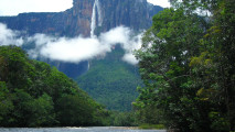 Beautiful Angel Waterfall In Venezuela HD Wallpaper Widescreen