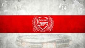 Arsenal 125 Years Annieversary Logo Background High Definition Wallpaper