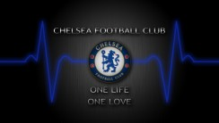 Chelsea FC Logo One Life One Love Exclusive HD Wallpaper Image