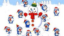 Snowman Doraemon Christmas HD Wallpaper Image Picture
