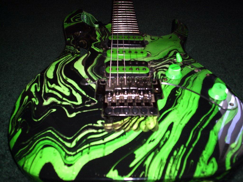Beautful Green Art Ibanez Rg Series Electric Guitar Photo