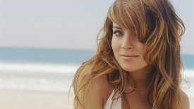 Lindsay Lohan On The Beach Photo HD Wallpaper For Your PC Desktop