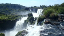 Awesome Iguazu Waterfall Nature Picture HD Wallpaper Desktop