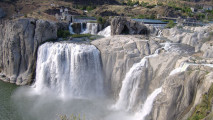 Shoshone Waterfall Picture HD Wallpaper Widescreen For PC Desktop