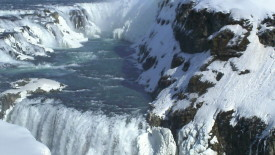Gullfoss Golden Falls Is A Waterfall Located In The Canyon Picture