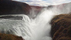 Amazing Gullfoss Falls And Sky Photo Picture HD Wallpaper