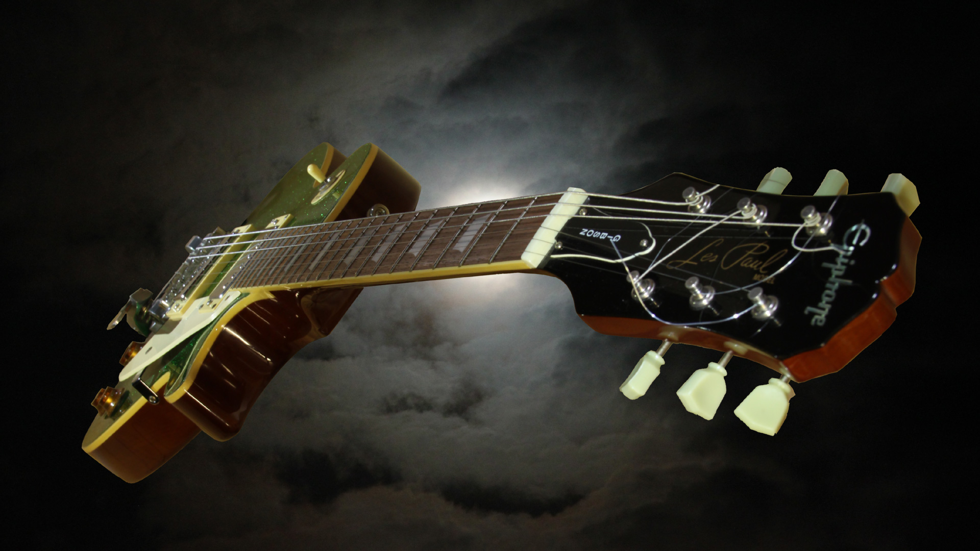 Amazing Music Wallpapers: Amazing Music Gibson Les Paul Style HD Wallpaper Picture
