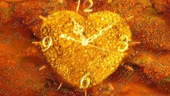 Wall Clock A Heart Of Gold High Resolution In HD Wallpaper Picture