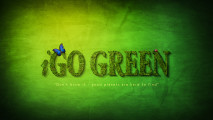 I Go Green Global Warnig HD Wallpaper Widescreen Dekstop Picture