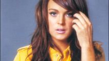 Hollywood Stars Lindsay Lohan With Yellow Jacket HD Wallpaper Photo