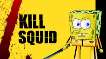 Spongebob Squarepants Kill Squid Background HD Wallpaper