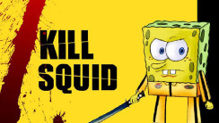 Spongebob Squarepants Kill Squid Background HD Wallpaper