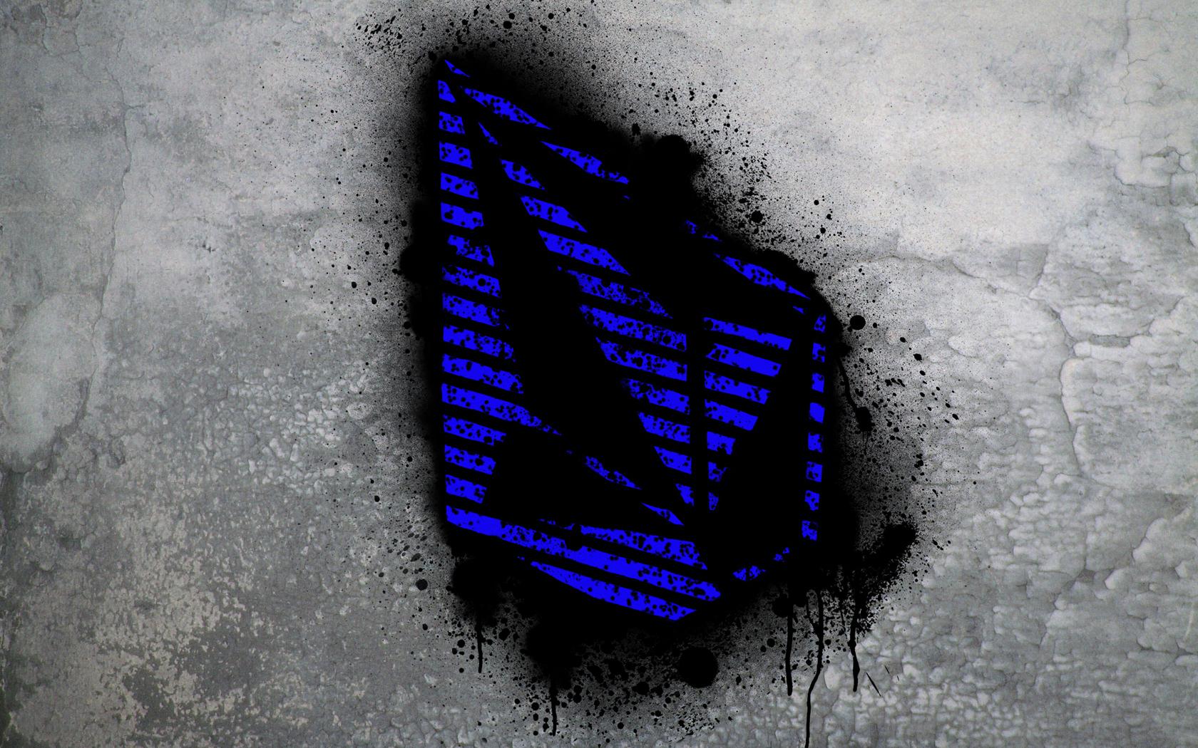 blue volcom stone graffiti fresh new hd wallpaper picture