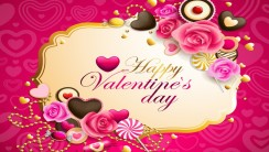 Pink Happy Valentine's Day High Definition Wallpaper Image