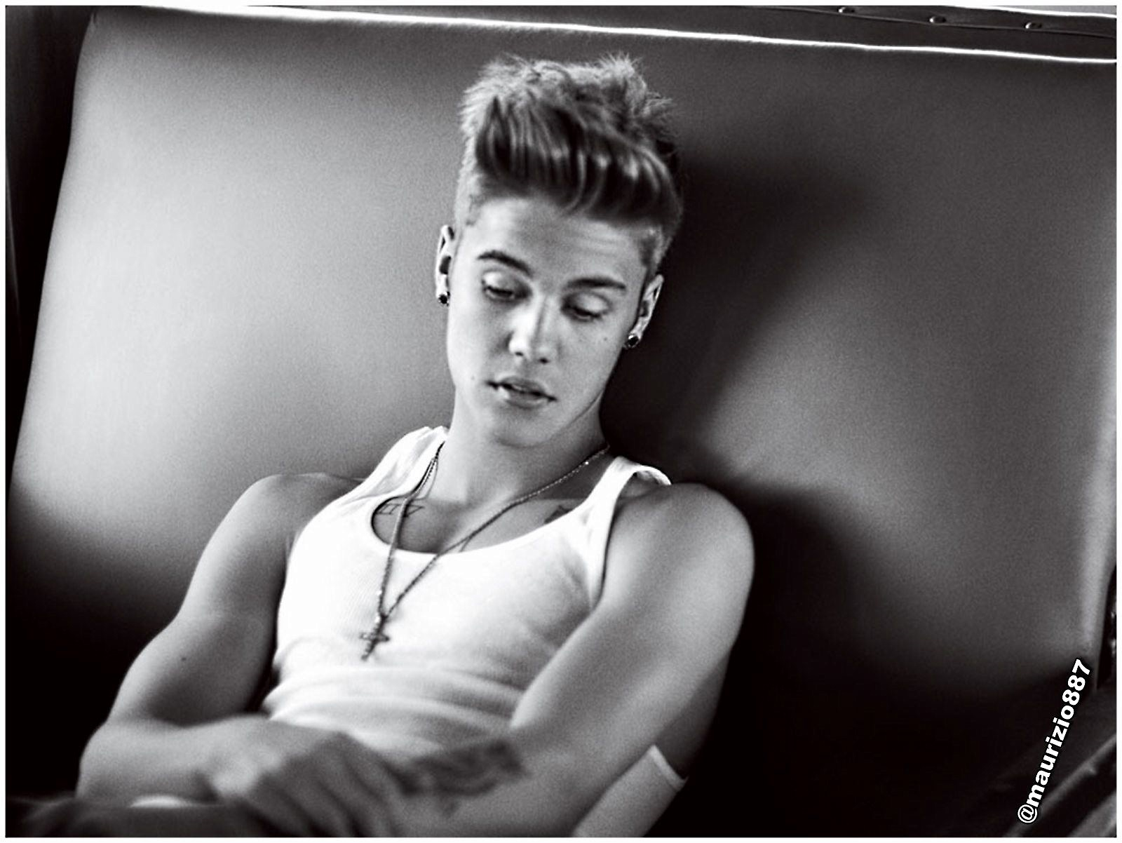 Black And White Justin Bieber Picture Image Desktop ...