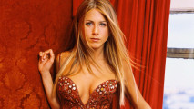 Jennifer Aniston Hot Red Dress HD Wallpaper