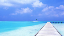 Blue Tropical Ocean HD Wallpaper