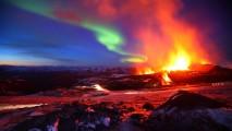 Erupting Iceland Volcano
