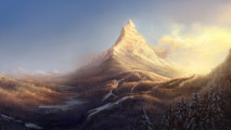 Mountain Artwork Wallpaper