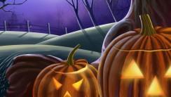 Spooky Halloween Pumpkins HD Wallpaper