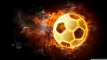 Blazing Soccer Ball HD Wallpaper