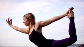 Standing Bow Pulling Pose HD Wallpaper