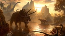 Dinosaurs in Water HD Wallpaper