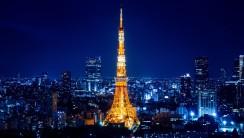 Tokyo and Tokyo Tower HD Wallpaper