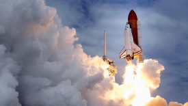 Atlantis Leaving the Launchpad HD Wallpaper