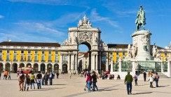 Commerce Square Lisbon HD Wallpaper