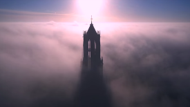 Drone Photo of Tallest Church in Netherlands HD Wallpaper