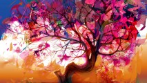 Season of Fall Abstract Art HD Wallpaper