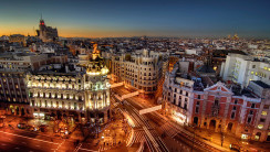 Madrid at Night HD Wallpaper