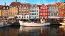 Nyhavn Promenade Copenhagen HD Wallpaper