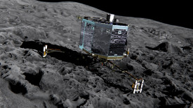 Philae on the Comet HD Wallpaper