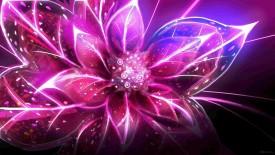 Purple Digital Abstract Flower Art HD Wallpaper