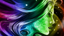 Woman Abstract Art HD Wallpaper
