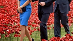 Royalty at Poppy Field for World War I Soldiers HD Wallpaper
