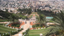 Baha'i Shrine and Gardens Haifa Israel HD Wallpaper